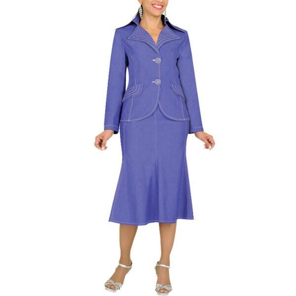 Divine Apparel Noch Collar Missy Denim Suit