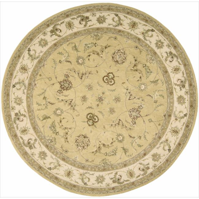 Nourison 3000 Hand-tufted Yellow Rug (8 x 8) Round