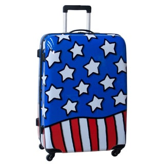 Ed Heck Stars n Stripes 28-inch Hardside Spinner Upright Suitcase