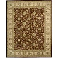 Nourison 3000 Hand-tufted Rust Wool Rug - 7'9 x 9'9
