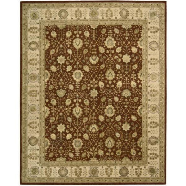 Nourison 3000 Hand-tufted Rust Wool Rug (7'9 x 9'9) - 7'9 x 9'9