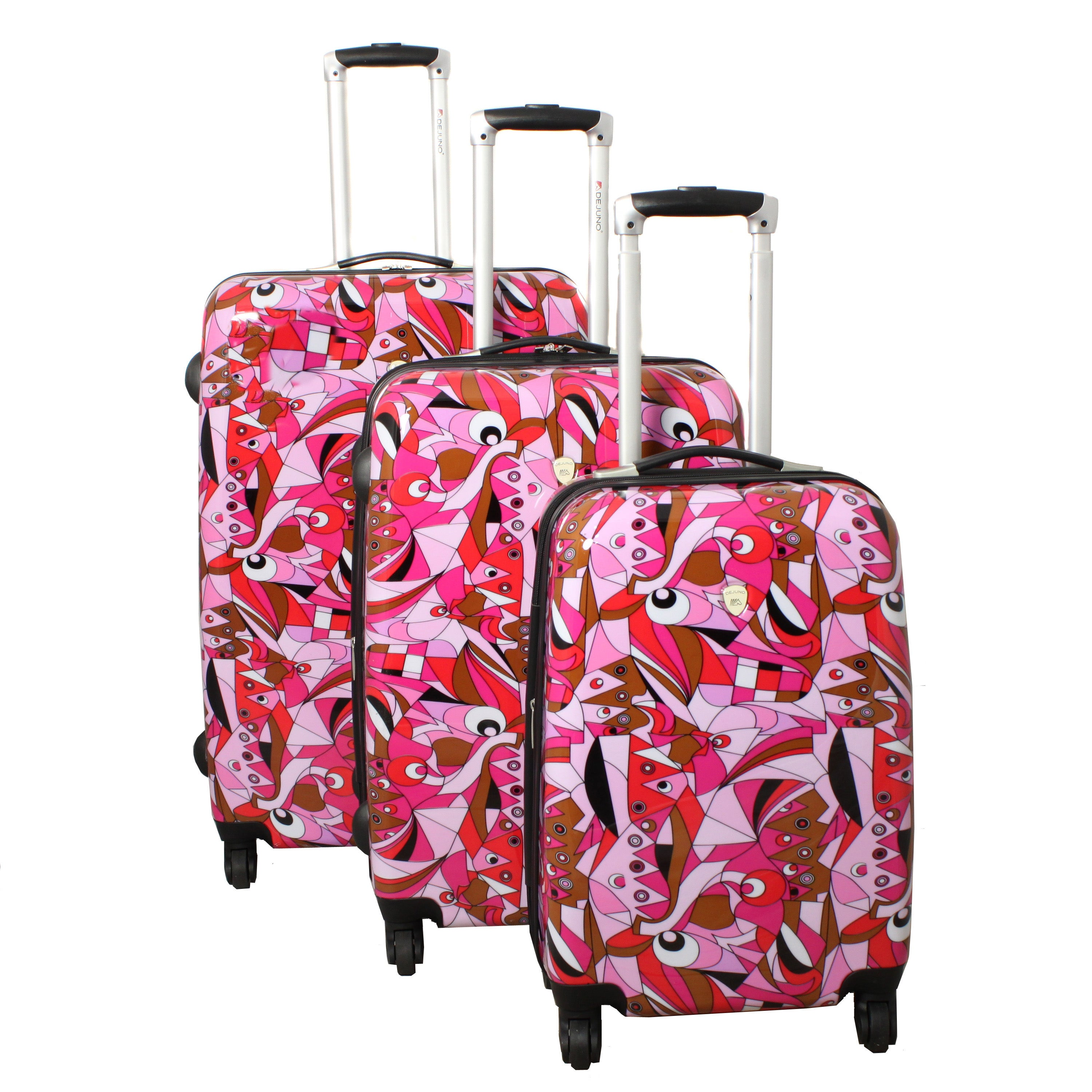 Abstract Dreams 3-piece Lightweight Pink Expandable Hardside Spinner Luggage Set