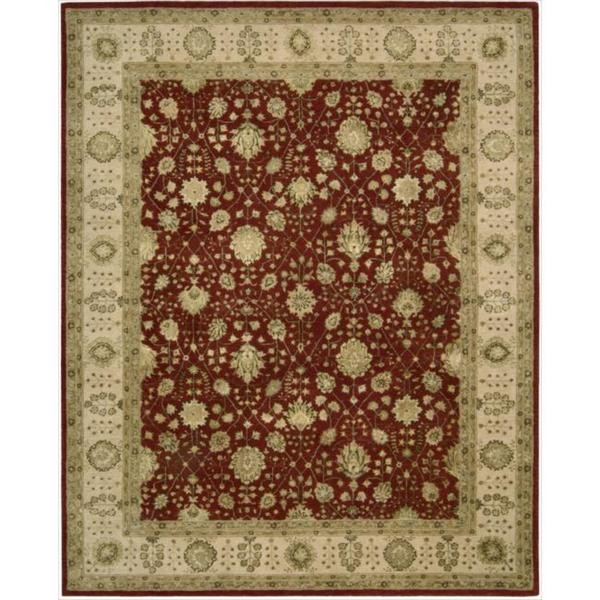Nourison 3000 Hand-tufted Red Wool Rug (7'9 x 9'9)