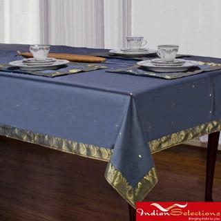Handmade Dark Gray Sari Table Cloth (India)