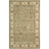 Nourison 3000 Hand-tufted Green Rug (9'9 x 13'9) - 9'9 x 13'9