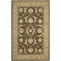 Nourison 3000 Hand-tufted Brown Wool Rug (9'9 x 13'9)
