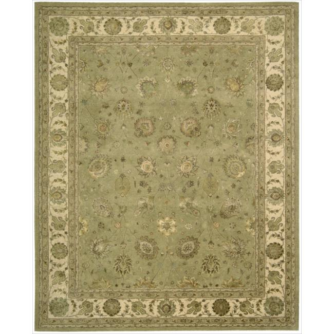 Nourison 3000 Hand-tufted Green Rug (7'9 x 9'9)