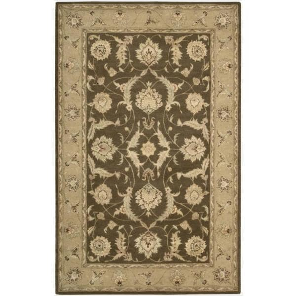 Nourison 3000 Hand-tufted Brown Wool Rug (8'6 x 11'6)