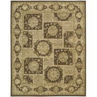 "Nourison 3000 Hand-Tufted Brown Area Rug (8'6"" x 11'6"") - 8'6 x 11'6"