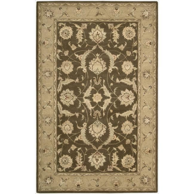 Nourison 3000 Hand-tufted Brown Rug (8'6 x 11'6)