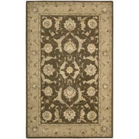 Nourison 3000 Hand-tufted Brown Rug (8'6 x 11'6) - 8'6 x 11'6