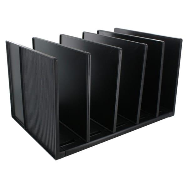 Eldon Black Vertical Desk Divided Organizer