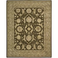 Nourison 3000 Hand-tufted Brown Wool Rug - 7'9 x 9'9