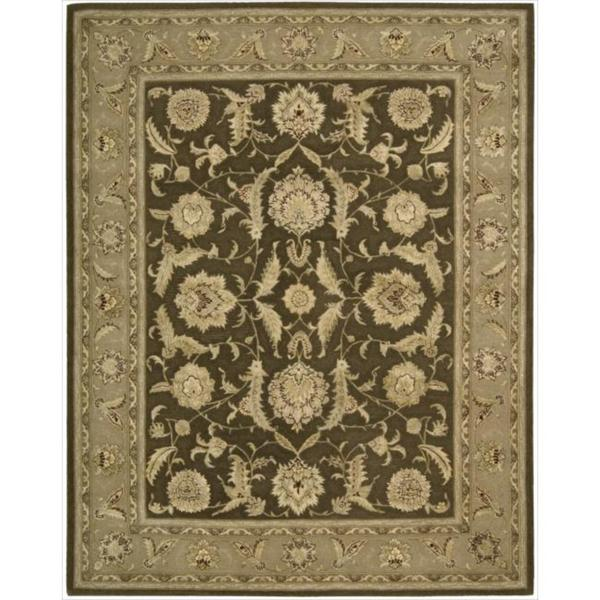 Nourison 3000 Hand-tufted Brown Wool Rug (7'9 x 9'9) - 7'9 x 9'9