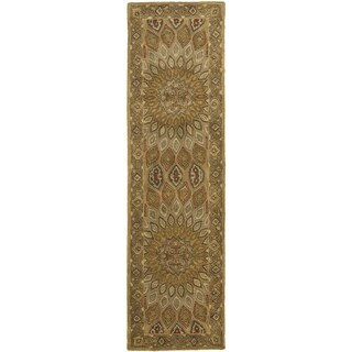 Safavieh Handmade Heritage Timeless Traditional Light Brown/ Grey Wool Rug (2'3 x 10')