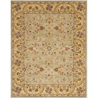 Safavieh Handmade Heritage Traditional Kerman Grey/ Gold Wool Area Rug - 5' x 8'