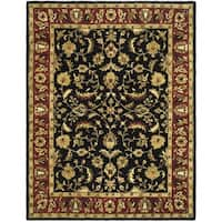 Safavieh Handmade Heritage Timeless Traditional Black/ Red Wool Rug - 9' x 12'