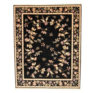 Handmade Sino Aubusson Wool and Silk Rug - 8' x 10'