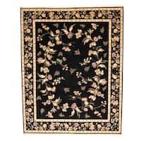 Handmade Herat Oriental Sino Aubusson Wool & Silk Rug  - 8' x 10' (China)
