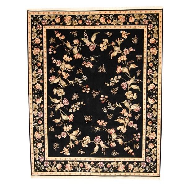 Herat Oriental Sino Hand-knotted Aubusson Wool & Silk Rug - 8' x 10'