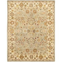 Safavieh Handmade Heritage Traditional Oushak Light Green/Beige Wool Rug - 9' x 12'