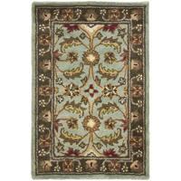 Safavieh Handmade Heritage Timeless Traditional Blue/ Brown Wool Rug - 3' x 5'