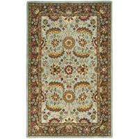 "Safavieh Handmade Heritage Timeless Traditional Blue/ Brown Wool Rug - 9'6"" x 13'6"""