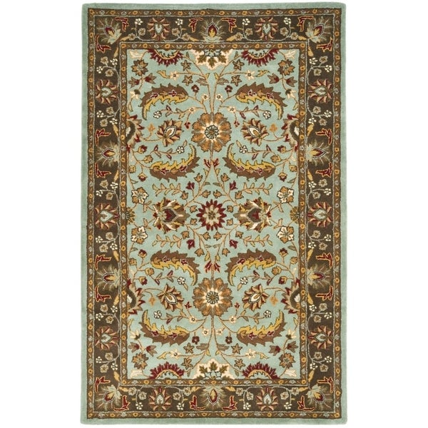 "Safavieh Handmade Heritage Timeless Traditional Blue/ Brown Wool Rug - 9'-6"" x 13'-6"""