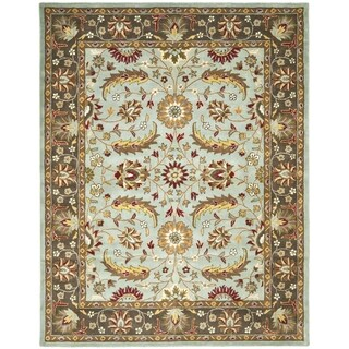 Safavieh Handmade Heritage Timeless Traditional Blue/ Brown Wool Rug (9' x 12')