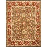 Safavieh Handmade Heritage Timeless Traditional Beige/ Rust Wool Rug - 9' x 12'
