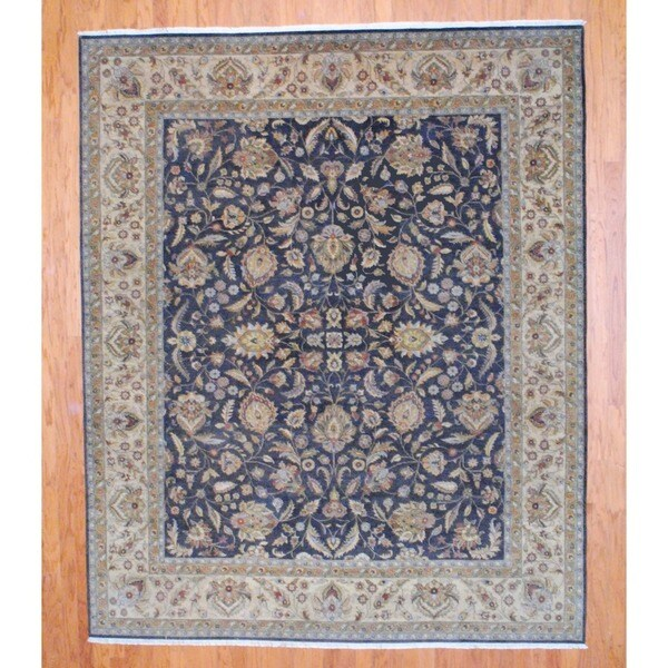 Indo Hand-knotted Oushak Brown/ Beige Wool Rug (8' x 10')