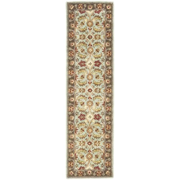 Safavieh Handmade Heritage Timeless Traditional Blue/ Brown Wool Rug (2'3 x 12')