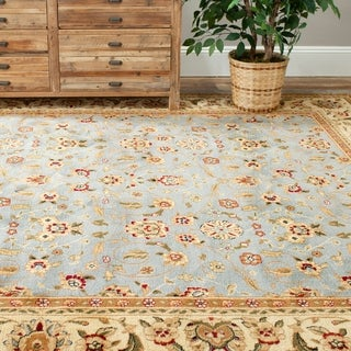 Safavieh Lyndhurst Traditional Oriental Light Blue/ Ivory Rug (4' Square)