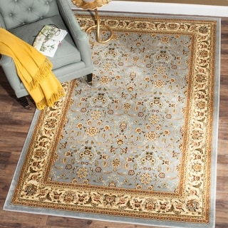 Safavieh Lyndhurst Traditional Oriental Light Blue/ Ivory Rug (7' Square)