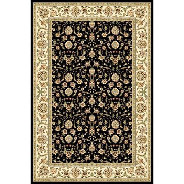 Lyndhurst Collection Traditional Black/ Ivory Runner Rug (4' x 6') Safavieh 3x5   4x6 Rugs