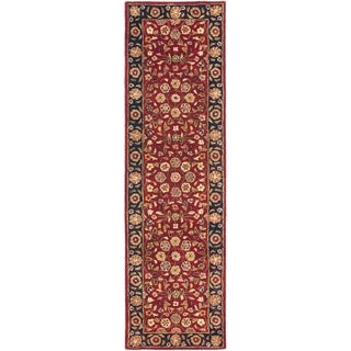 Safavieh Handmade Heritage Timeless Traditional Red/ Navy Wool Rug (2'3 x 20')