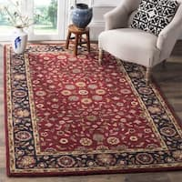 Safavieh Handmade Heritage Timeless Traditional Red/ Navy Wool Rug (9' x 12')