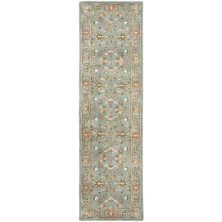 Safavieh Handmade Heritage Timeless Traditional Blue Wool Rug (2'3 x 14')