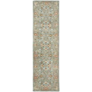 Safavieh Handmade Heritage Timeless Traditional Blue Wool Rug (2'3 x 14')|https://ak1.ostkcdn.com/images/products/7233730/7233730/Handmade-Heritage-Nir-Blue-Wool-Rug-23-x-14-P14715325.jpeg?impolicy=medium