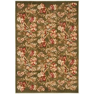 Safavieh Lyndhurst Traditional Floral Sage Runner Rug (4' x 6')