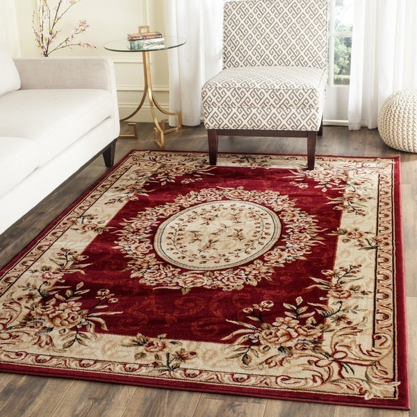 Safavieh Lyndhurst Traditional Oriental Red Ivory Rug 4