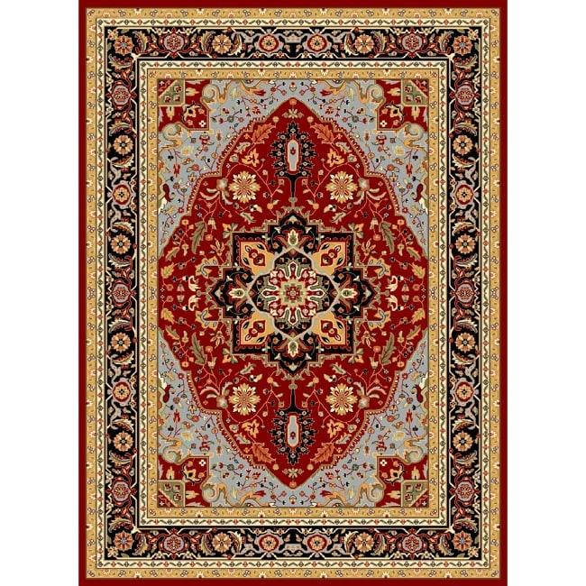 Safavieh Lyndhurst Collection Red/ Black Rug (9 X 12)