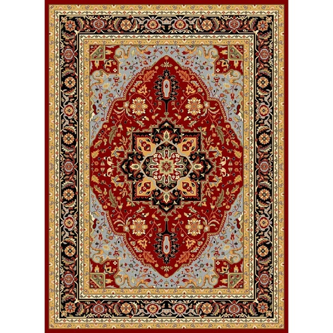 Safavieh Lyndhurst Collection Red/ Black Rug (9 x 12)   14715346