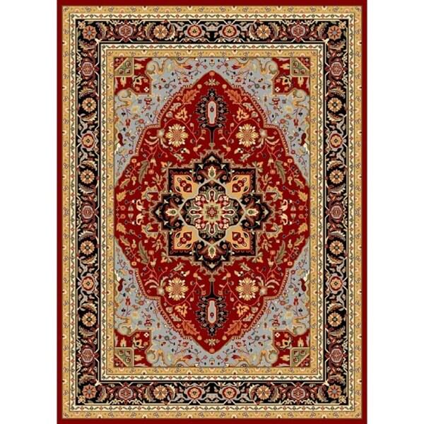 Safavieh Lyndhurst Collection Red/ Black Rug (9' x 12') Safavieh 7x9   10x14 Rugs