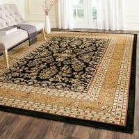 Safavieh Lyndhurst Traditional Oriental Black/ Tan Rug - 9' x 12'
