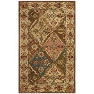 Safavieh Handmade Heritage Traditional Bakhtiari Beige Wool Rug (4' x 6')