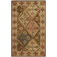 Safavieh Handmade Heritage Traditional Bakhtiari Beige Wool Rug - 4' x 6'