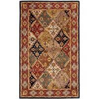 Safavieh Handmade Heritage Traditional Bakhtiari Green/ Red Wool Rug - 4' x 6'