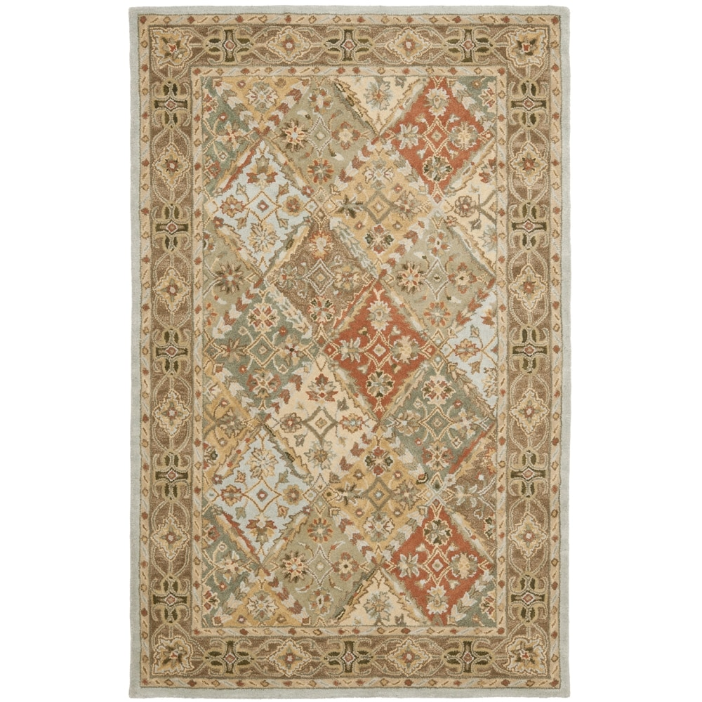 Safavieh Handmade Heritage Traditional Bakhtiari Light Blue/ Light Brown Wool Rug (4' x 6')