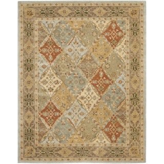 Safavieh Handmade Heritage Traditional Bakhtiari Light Blue/ Light Brown Wool Rug (5' x 8')